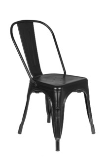 Metal Black Café Chair