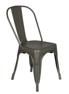 Metal Grey Café Chair