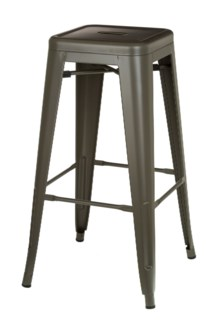 Metal Grey Café Bitro Stool
