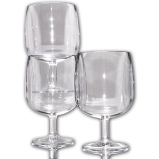 Clear BPA Stackable wine glasses