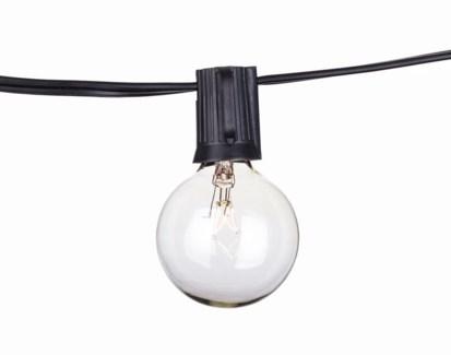 Savannah String Lights - C9 Black 50ft Cord only