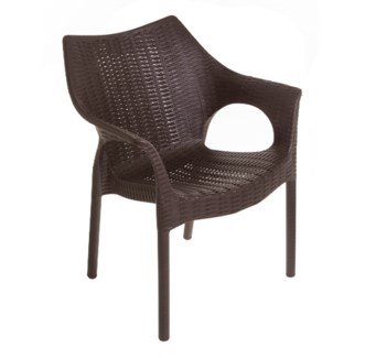 Brown Commercial Armrest Chair