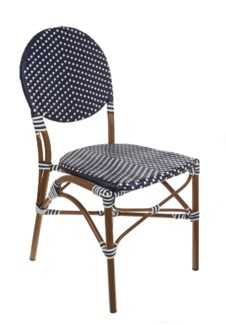 Navy & White Café Bistro Chair