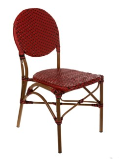 Red & Black Cafe Bistro Chair