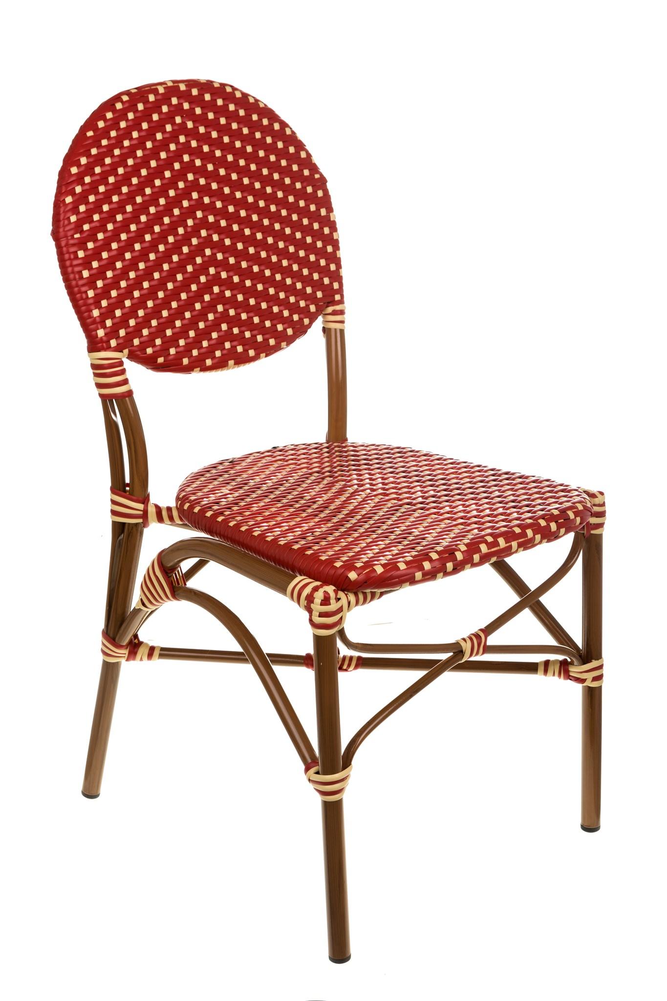 Red U0026 Cream Café Bistro Chair