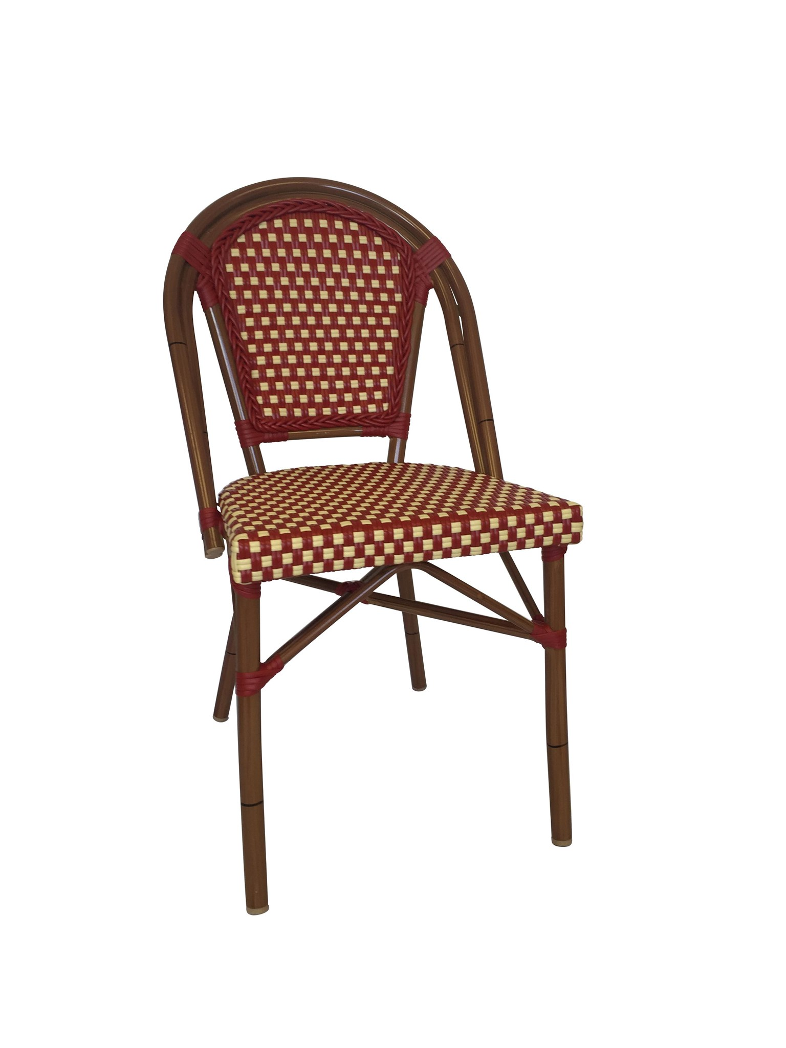 Original Red U0026 Cream Café Bistro Chair