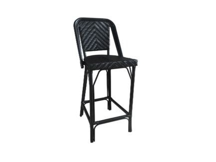 All Black Modern Café Bistro Stool