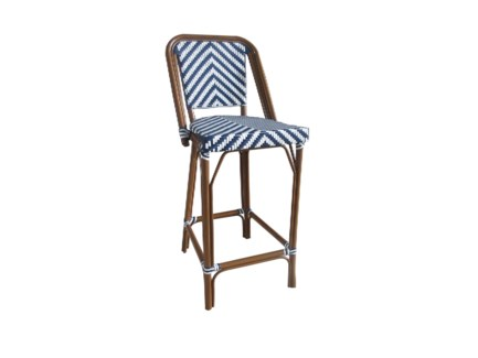 Navy & White - Modern Cafe Bistro Stool