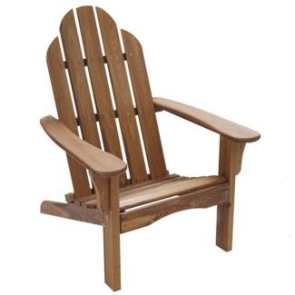 Brown Folding Wood Adirondack Chair