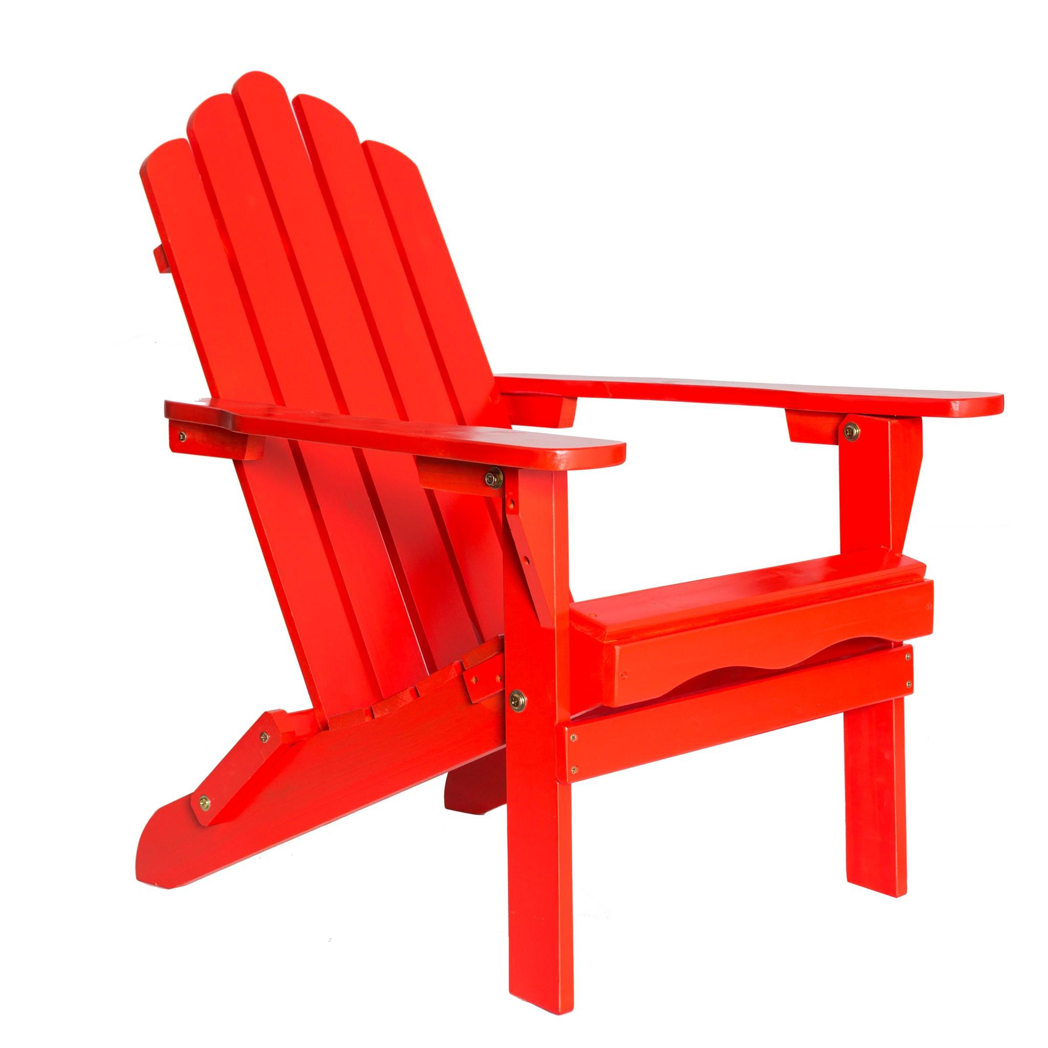Red Folding Wood Adirondack Chair