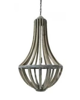 Hanging Wood Lamp Pendant