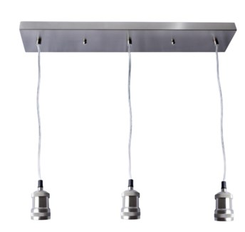 Ceiling 3 Nickel Light Fixture