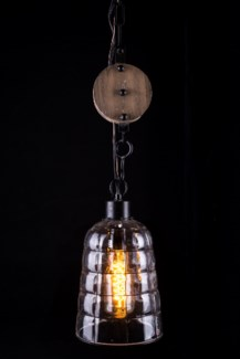 Hanging Lamp with Metal Pulley