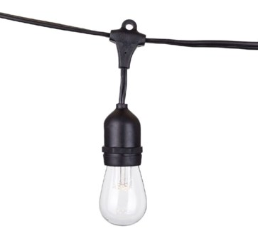 LED Vintage String Light - 48 feet 24 lights with Clear LED Bulbs