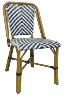 Navy & White - Modern Cafe Bistro Chair