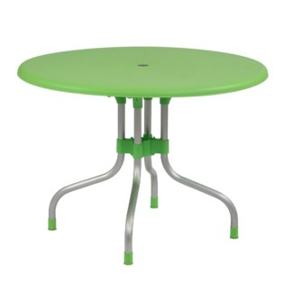 Green Round Shape Commercial Grade Table