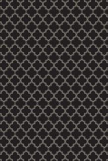 Pre-Order- Quaterfoil Design- Size Rug: 2ft x 3ft black & white