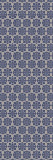 Modern European Design - Size Rug: 2ft x 6ft blue & white