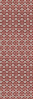 Modern European Design - Size Rug: 2ft x 6ft red & white