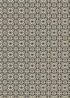 Quad European Design - Size Rug: 5ft x 7ft Black & White