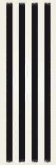 Strips of European Design - Size Rug: 2ft x 6ft black & white colors