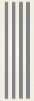 Strips of European Design - Size Rug: 2ft x 6ft grey & white colors
