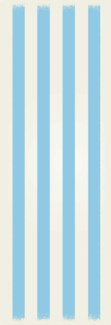 Strips of European Design - Size Rug: 2ft x 6ft  light blue & white colors