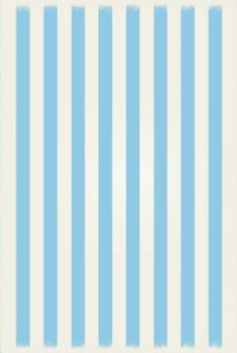 Strips of European Design - Size Rug: 4ft x 6ft light blue & white colors