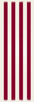 Strips of European Design - Size Rug: 2ft x 6ft red & white colors
