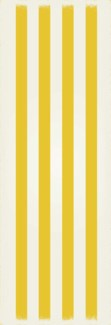 Strips of European Design - Size Rug: 2ft x 6ft yellow & white colors