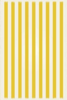 Strips of European Design - Size Rug: 4ft x 6ft yellow & white colors