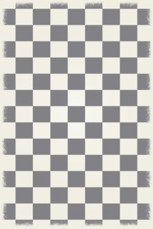 English Checker Design - Size Rug: 4ft x 6ft green & white colors