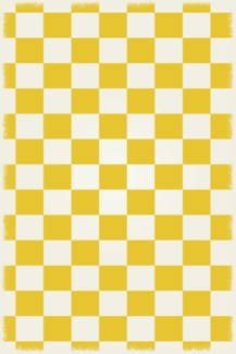 English Checker Design - Size Rug: 4ft x 6ft  yellow & white colors