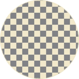 Checker of Circles - Size Rug 5ft x 5ft - Grey