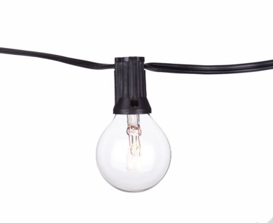 Party String Lights - 15ft. Clear Bulbs included