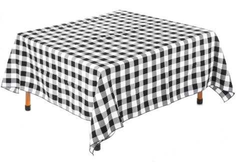Black and White Table Cloth