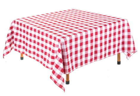 Red and White Table Cloth