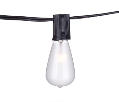 Edison Vintage String Lights with Clear Bulbs