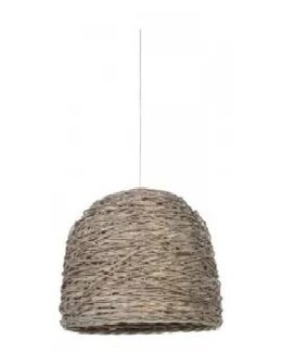 Ceiling Pendant with Weaved Basket Shade Light