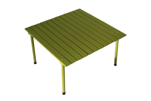 Green Low Wood Table in a Bag