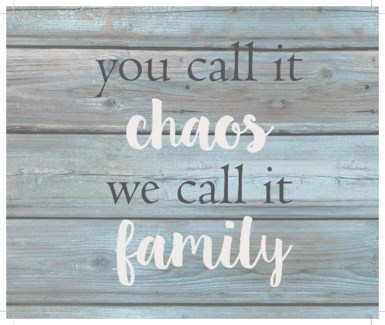 "You call it chao's we cal it family - Wash out Grey background 10"" x 12"""