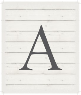 "Letter A - White background 10"" x 12"""