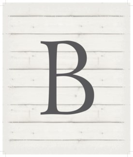 "Letter B - White background 10"" x 12"""