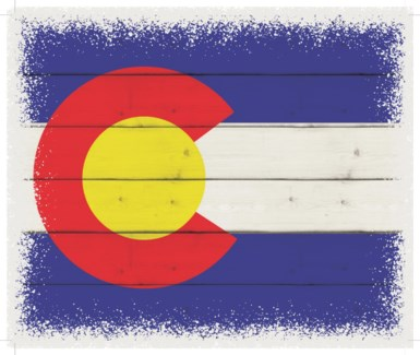 "Colorado Flag - White background 10"" x 12"""