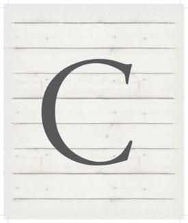 "Letter C - White background 10"" x 12"""