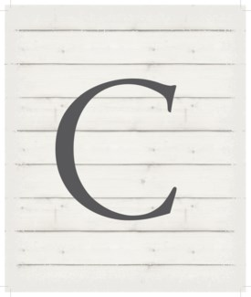 "Letter C - White background 10"" x 12"""