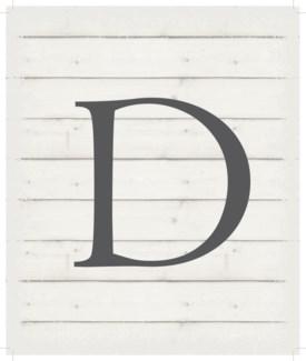 """Letter D - White background 10"""" x 12"""""""