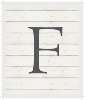 "Letter F - White background 10"" x 12"""