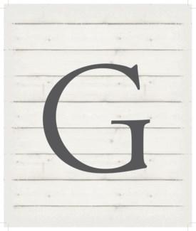 """Letter G - White background 10"""" x 12"""""""
