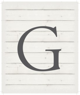 "Letter G - White background 10"" x 12"""